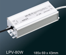 LPV-80W LED constant voltage waterproof switching power supply