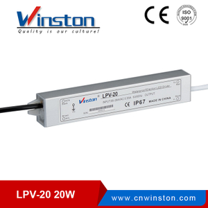 LPV-20W 12V 24V waterproof led power supply with ce