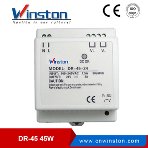 WINSTON DR-45 45W single output din rail power supply