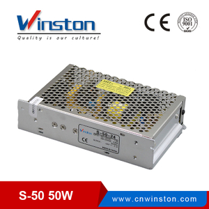 S-50 50w ac/dc 5V 12V 15V 24V adjustable led driver switch mode cctv power supply with CE ROHS