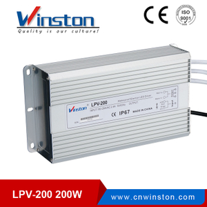 LPV-200 200w efficient waterproof led driver for swimming led lights