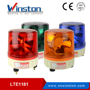 LTD-1181 red bulb rotary warning light (Φ180) DC12V 24V AC110V 220V