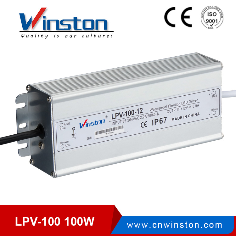 Small size LPV-100 led driver 100w waterproof led power supply