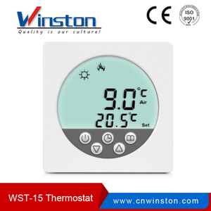 Factory Wst-15 LCD Digital Round Screen Programmable Room Thermostat