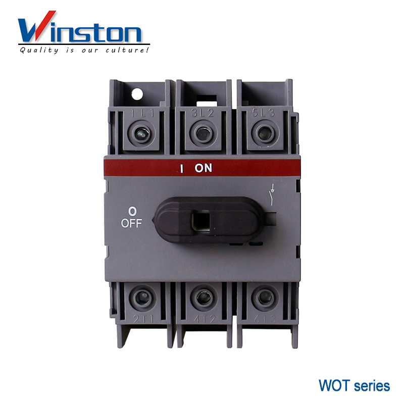 WOT series 3 Pole 40A 63A 80A 100A 125A Load Isolator Switch
