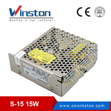 CE ROHS High Quality S-15W AC/DC Single Output 220v 5V 15V 15V 24volt Switching Power Supply Adapter with 2 Years Warranty