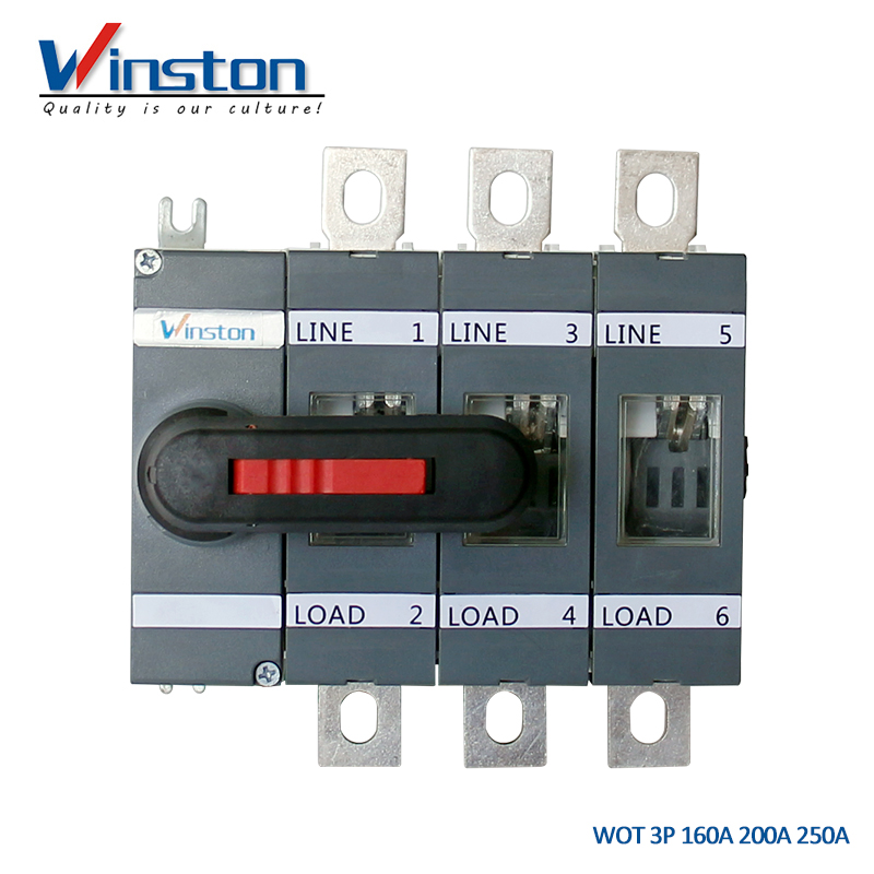 WOT Series Electrical 160A 200A 250 Amp 3P Isolator Switch