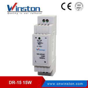 Yueqing SMPS DR-15 Din Rail 12V 24V 15W Power Supply