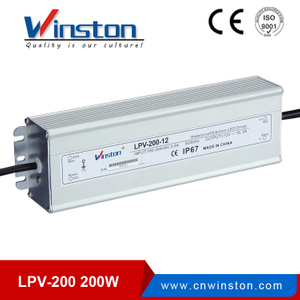 Mini size LPV-200 200w waterproof switching led power supply