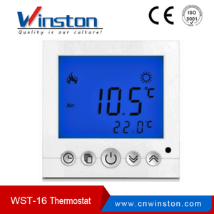 3A 16A Large Screen back lighting NTC Sensor Digital LCD Room Thermostat (Wst-16)